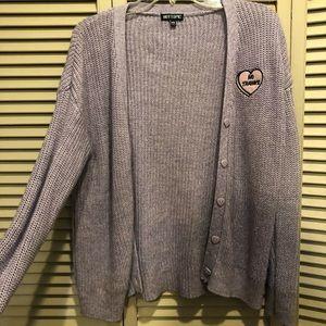 Purple sweater cardigan